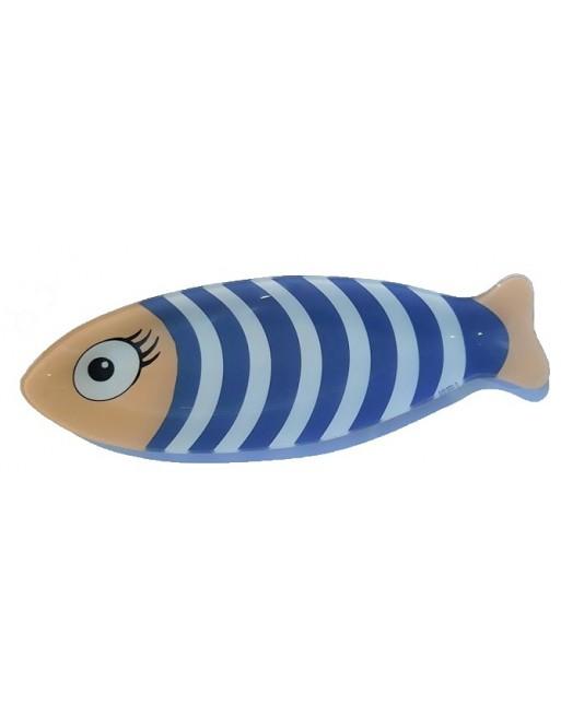 Coupelle poisson  en verre trempé décor marinière