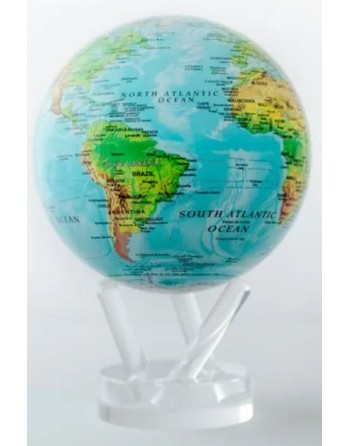 Globe terrestre en mouvement - relief