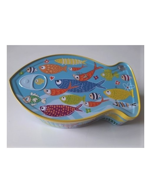 Boîte métal poisson