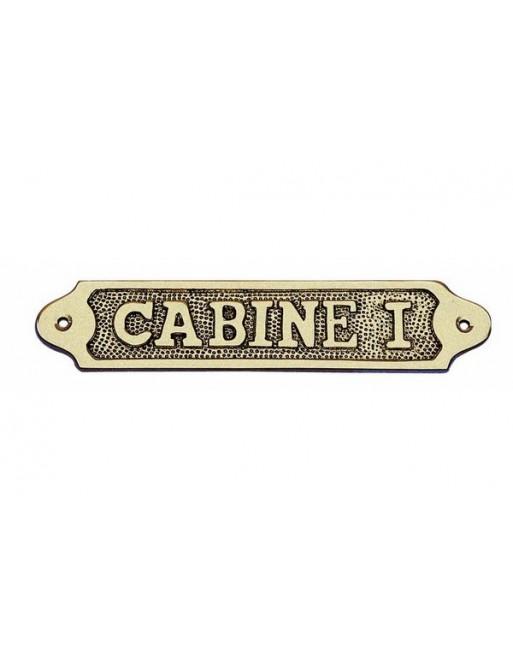 PLAQUE DE PORTE CABINE I