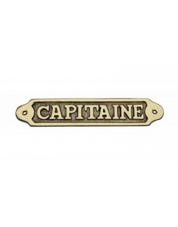 PLAQUE PORTE LAITON CAPITAINE
