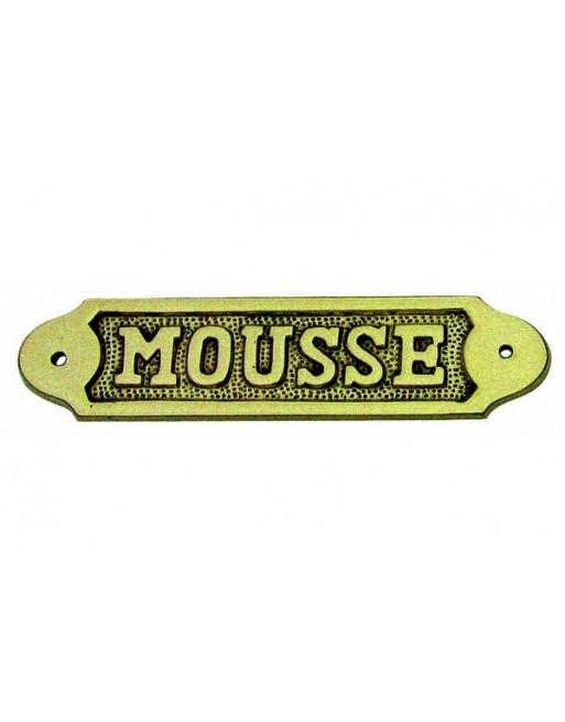 PLAQUE DE PORTE MOUSSE