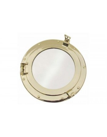 Hublot miroir ouvrant en laiton taille 3