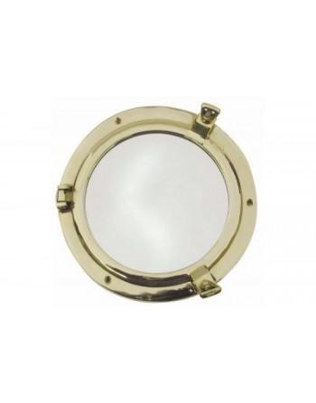 Hublot miroir ouvrant en laiton taille 2