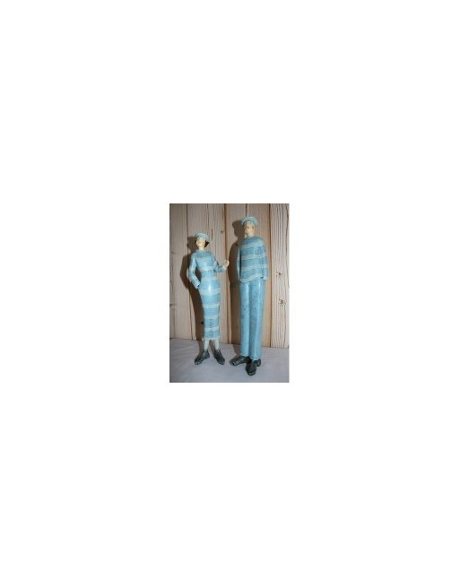 statuette couple de marins retro
