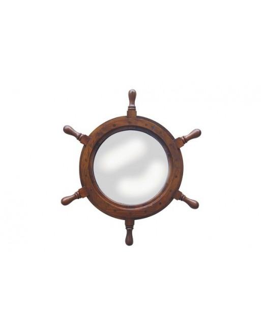 Roue de gouvernail avec miroir d coration marine for Miroir parabolique solaire