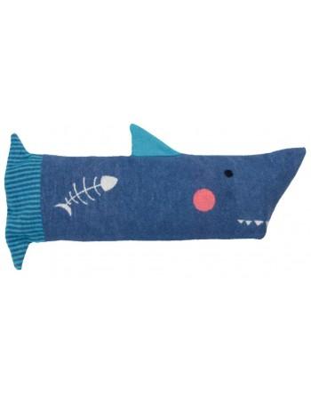 Coussin requin avec plaid