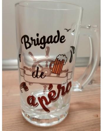 Chope à bière brigade de l'apéro
