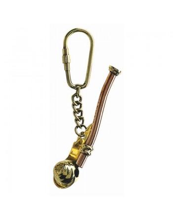Porte clés laiton sifflet de bosco